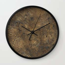 Scratched Grunge Surface Wall Clock