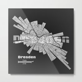 Dresden Map Metal Print