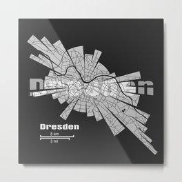 Dresden Map Metal Print