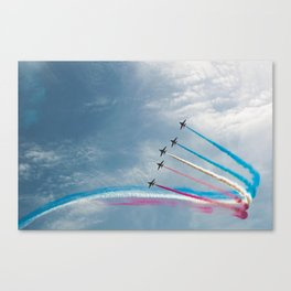 Toothpaste Sky Trail Canvas Print