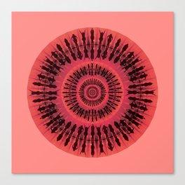 Swim red Canvas Print