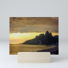 Gathering Storm at Sunset, Rio De Janeiro Mini Art Print