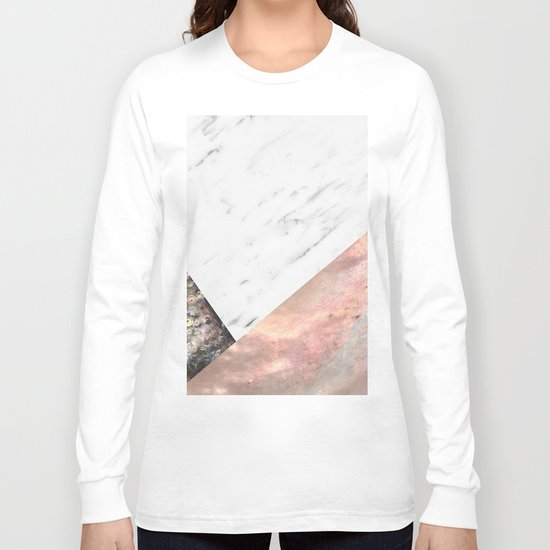 Marble with sequins and mother of pearl Long Sleeve T-shirt