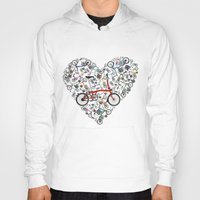 brompton Hoodies featuring I Love Brompton Bikes by Wyatt Design