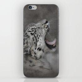 Yawning Snow Leopard iPhone Skin