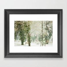 Falling Snow Framed Art Print
