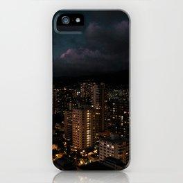 Waikiki by night iPhone Case