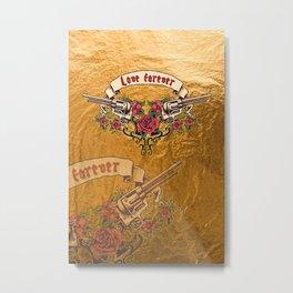 Love forever – Roses Metal Print