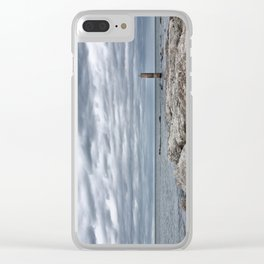 A cloudy day in Marina of Montemarciano, Italy Clear iPhone Case