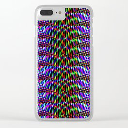 Violet Rays XV Clear iPhone Case
