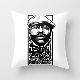 Mr.BlackThought / Rapper's Delight Throw Pillow
