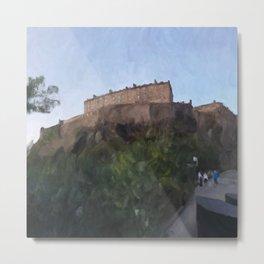Edinburgh Castle from Johnston Terrace Metal Print