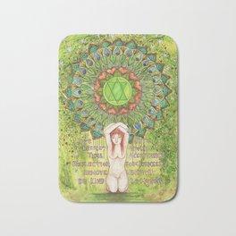Heart Chakra Inspirational Design Bath Mat