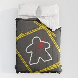Dead Meeple Crime Scene Comforters