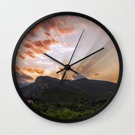 Litochoro, Greece Wall Clock