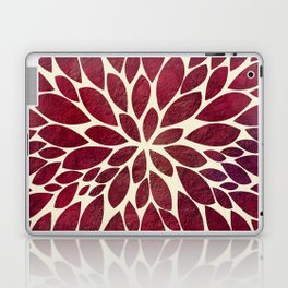 Petal Burst - Maroon Laptop & iPad Skin