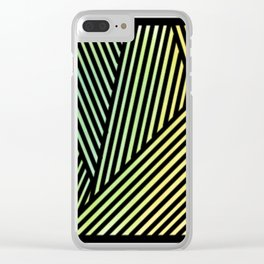 rainbow lines Clear iPhone Case