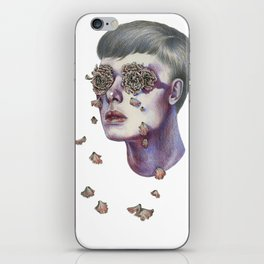 """""""Don't be ashamed to weep... Tears are only water, and flowers cannot grow without water"""" iPhone Skin"""