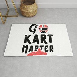 Go kart master / kart racing lover / go kart /gokart gift idea / go-kart present Rug