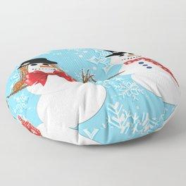 Mr. and Mrs. Snowman Floor Pillow