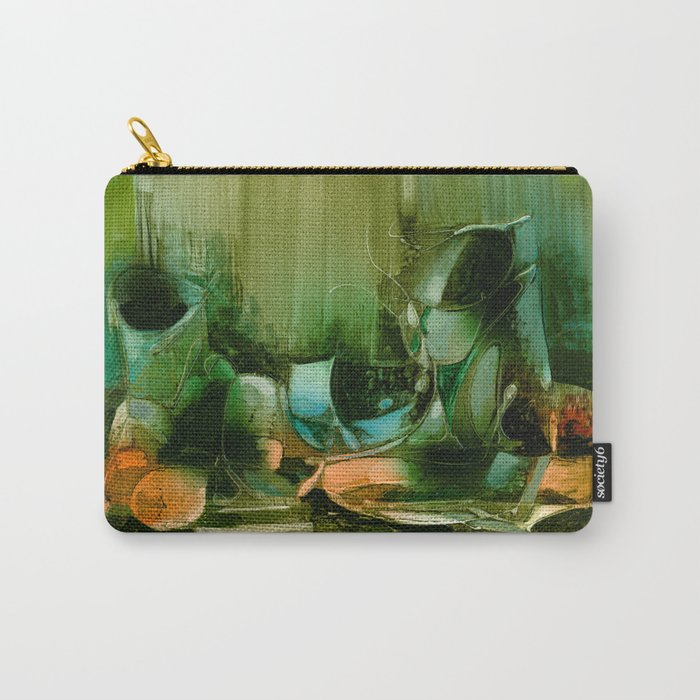Abstract Oil painting Still Life Carry-All Pouch