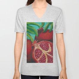 Pomegranates Unisex V-Neck