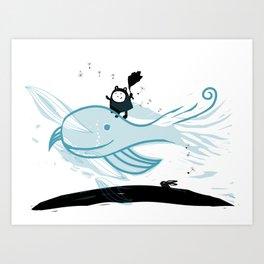 Whale Wind Art Print
