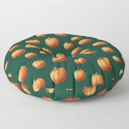 Illustrated Pumpkin Pattern Floor Pillow