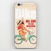 bike iPhone & iPod Skins featuring BIKE by melivillosa