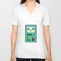 bmo V-neck T-shirts featuring BMO by Janice Wong