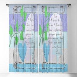 God's Plan Sheer Curtain