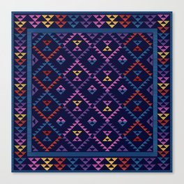 Bohemian Kilim Ethnic Pattern 1 Canvas Print