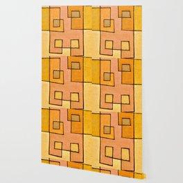 Protoglifo 04 'yellow hugging pink' Wallpaper