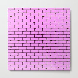 Wide Pink Wall Background Metal Print