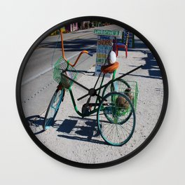A Ride in Matlacha Wall Clock