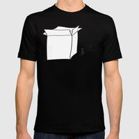 It's cold outside the box... Black MEDIUM Mens Fitted Tee