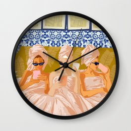 Ladies-Only Club #illustration #painting Wall Clock