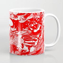 Big waves Red Coffee Mug