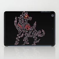 okami iPad Cases featuring Okami Amaterasu - Cherry Blossom Form [BLACK] by Daniel Bevis