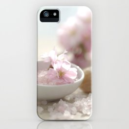 Still life for Bathroom with almond blossoms iPhone Case