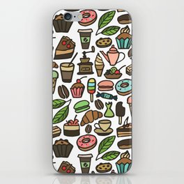 Coffee and pastry. iPhone Skin