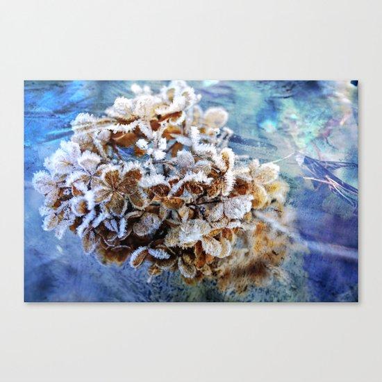 Frozen Poetry Canvas Print