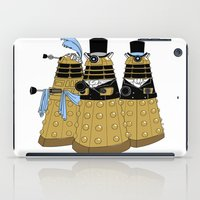 pride and prejudice iPad Cases featuring Pride and Prejudice and Daleks by mikaelak