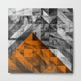 STONE STONE ORANGE Metal Print