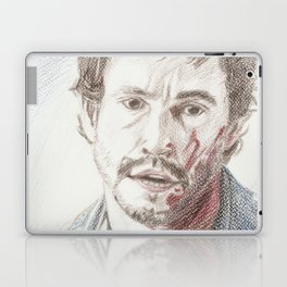 Bloody Will Graham, original colored pencil drawing Laptop & iPad Skin
