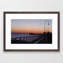 St Kilda Pier at Dusk Framed Art Print