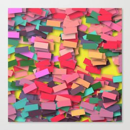 pink colored bricks Canvas Print