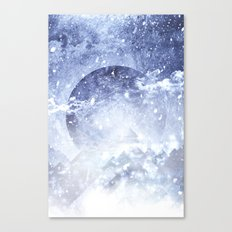 Even mountains get cold Canvas Print