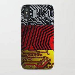 circuit board germany (Flag) iPhone Case