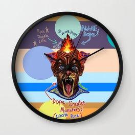 Dope Creates Monsters Uncut Wall Clock